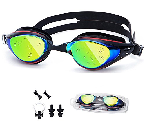 6a1976f93cf UTOBEST Optical Swim Goggles Nearsighted Prescription Swimming Goggles with  Degree UV Protection Anti-Fog No Leaking with Ear Plugs Nose Clip for Women  Men ...