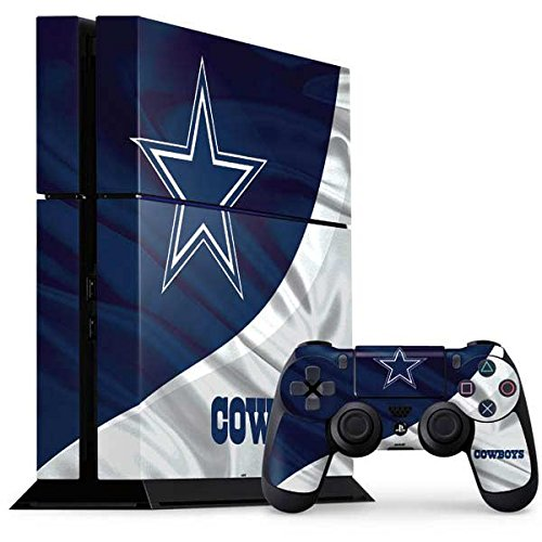 Skinit NFL Dallas Cowboys PS4 Console and Controller Bundle Skin - Dallas Cowboys Design - Ultra Thin, Lightweight Vinyl Decal Protection