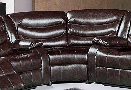 Meridian Furniture Wedge, Brown
