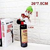 3 Pcs Santa Claus Wine Bottle Cover Christmas Decorations For Home Snowman Bottle Pendant Sets Xmas Dinner Table Decor ,snowman
