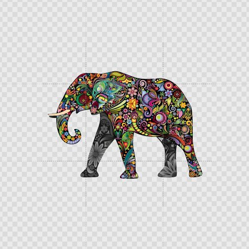 - Elephant Decal Stickers Colorful Elephant Wall Color Print (3 X 2.1 Inch) X9296