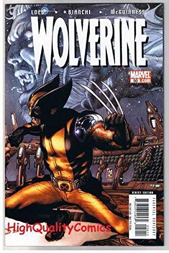 WOLVERINE #50, NM-, X-men, Wraparound, vs Sabretooth, 2003, more in ()