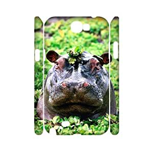 VNCASE Hippo Phone Case For Samsung Galaxy Note 2 N7100 [Pattern-1] by icecream design