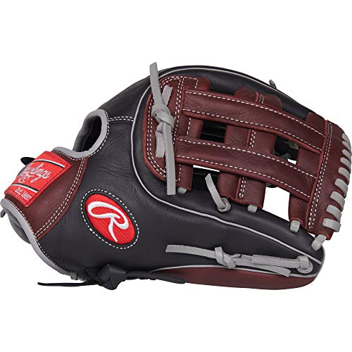 Rawlings R9 Baseball Glove, Black, 11.75