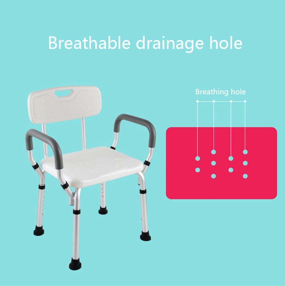 Amazon.com: Aluminum shower stool/handicapped assisted non-slip ...