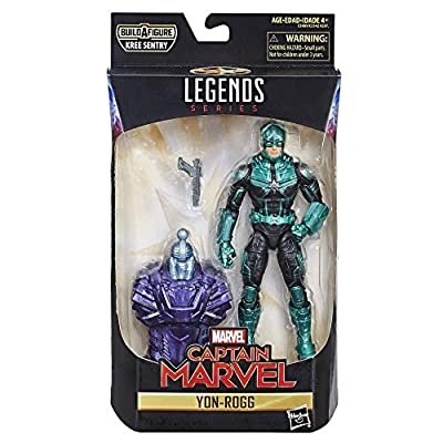 Marvel Captain Marvel 6-inch Legends Yon-Rogg Kree Figure for Collectors, Kids, and Fans: Toys & Games