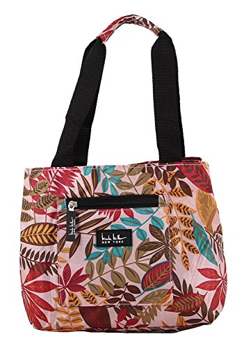 Nicole Miller of New York Insulated Lunch Cooler- Galapagos/ Pink 11 Lunch Tote (Tote Polyester Bag Zipper)