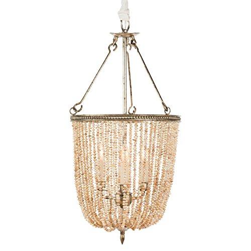 Freshwater Pearl Chandelier - Regina Coastal Style Pink Pearls 4 Light Basket Chandelier