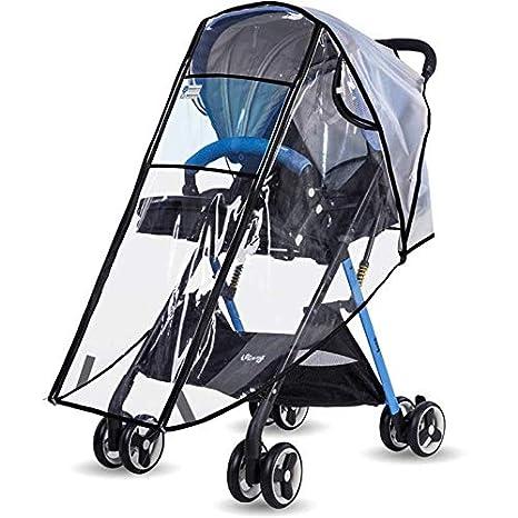 Qkurt Cubierta de lluvia para buggy Cochecito Actualizar Aburrido Polaco bebé viaje escudo del tiempo: Amazon.es: Bebé