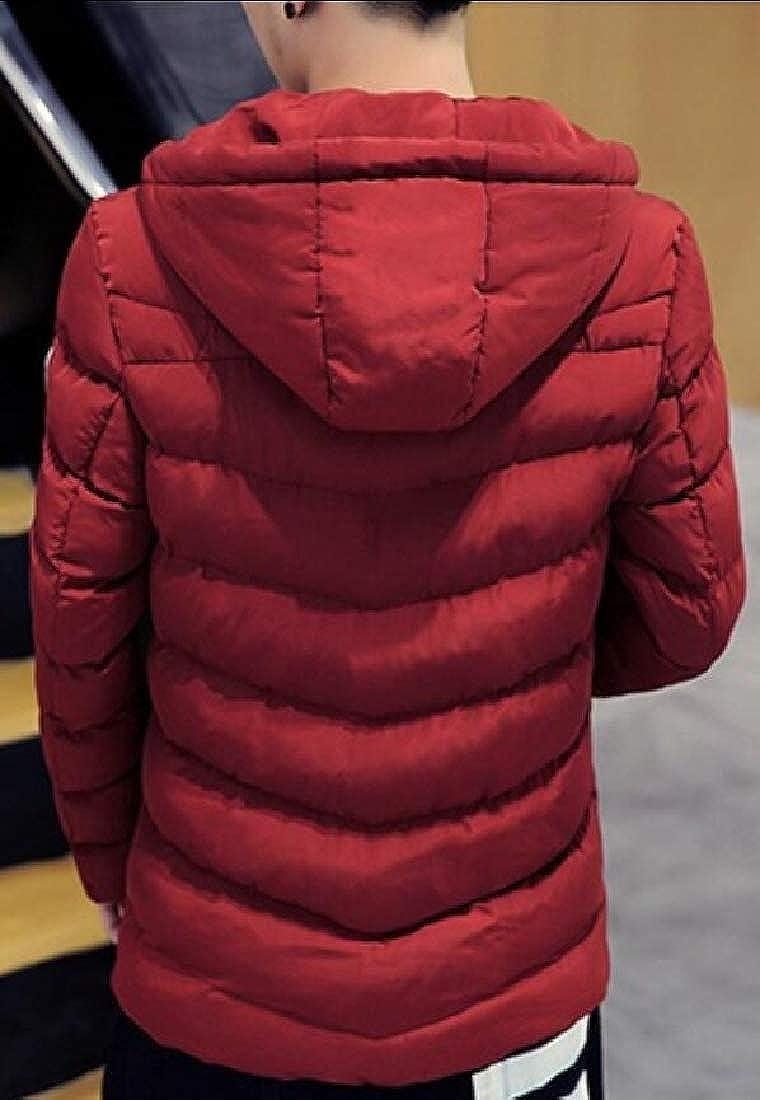 Keaac Men Thicken Coats Parka Warm Outwear Jacket with Fur Hood