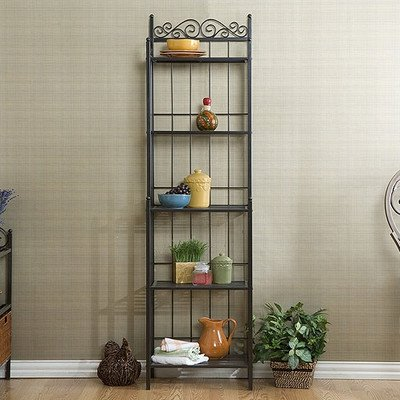 "Review Essex 69"" Baker's Rack, 5 Shelves, Durable metal construction By Better Homes and Gardens by Better Homes and Gardens"