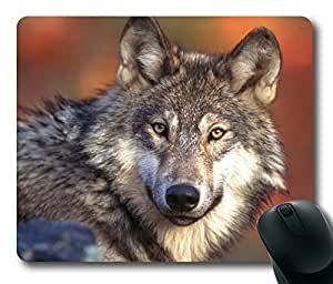 Rectangle mouse pad Diy Design Gray Wolf Endangered