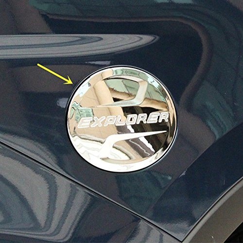 ZiWwen New Chrome Styling Fuel Tank Cover Oil Cap Gas Cover Trim for Ford Explorer - Fuel Trim