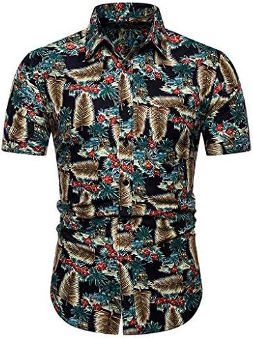 Cocoty-store 2019 Shirt Camisa Hawaiana Hombre Manga Corta Delante de Bolsillo Impresión Hawaiana Casual Regular Fit Camisa de Hawaii, S/M/L/XL/2XL: Amazon.es: Ropa y accesorios
