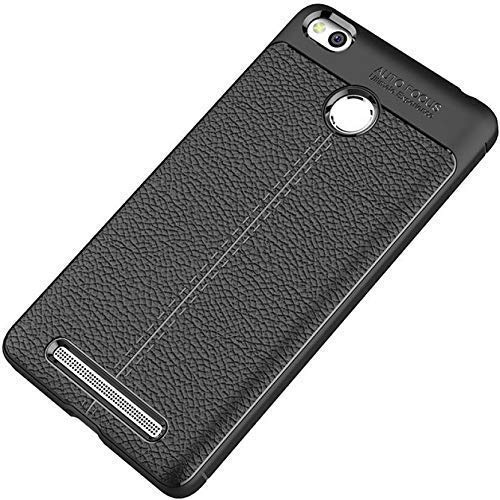 ERIT TPU Auto Focus Back Case Cover for Xiaomi Redmi 3S / Mi 3S  Black