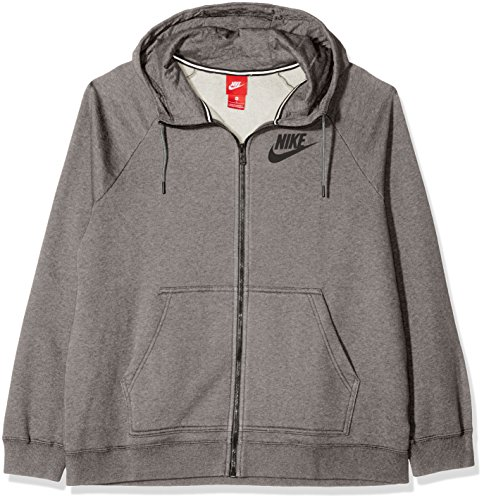 Grigio Cappuccio Heather Ah3973 con Carbon Donna Nike Felpa Cool Nero Bq8T7