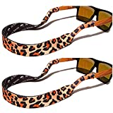 TORTUGA STRAPS FLOATZ Relaxed Fit Leopard -2 Pk Floating Sunglass Straps