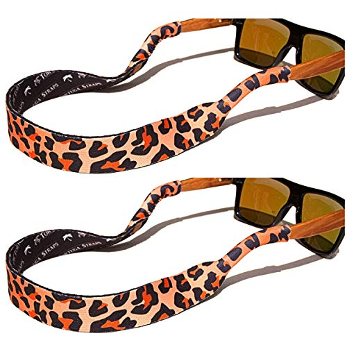 TORTUGA STRAPS FLOATZ Relaxed Fit Leopard -2 Pk Floating Sunglass Straps by Playa Vida