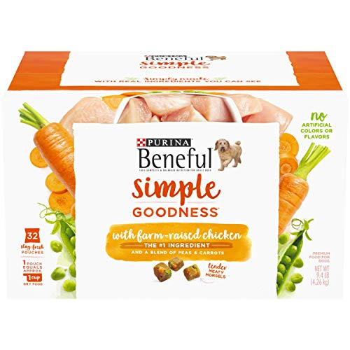 Purina Beneful Dry Dog Food, Simple Goodness With Farm Raised Chicken - 32 ct. Box