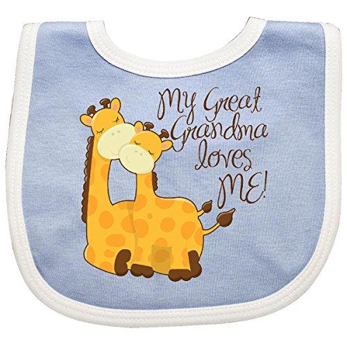 (Inktastic - My Great Grandma loves me! Baby Bib Blue/White 265d9)