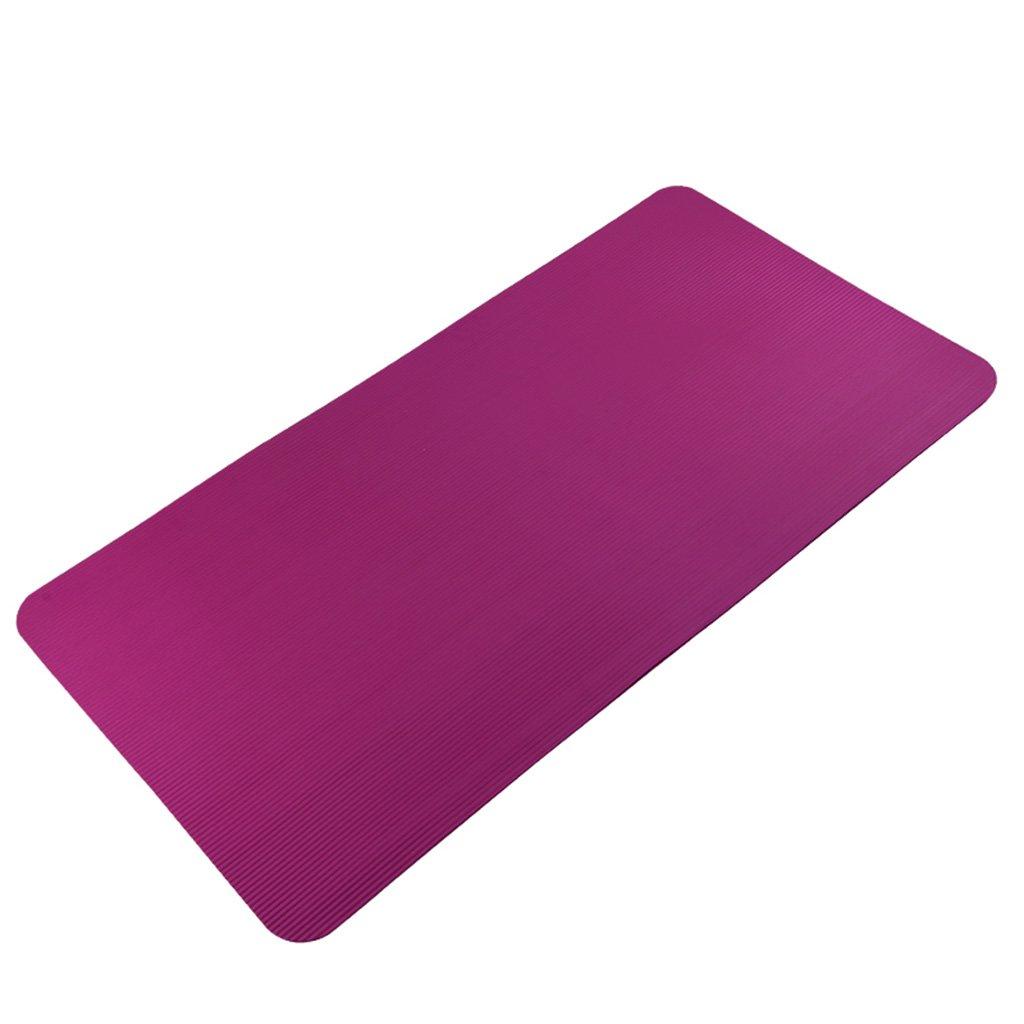Amazon.com  CarPet Thick non-slip yoga mat purple rectangular sports ... 88edcc2a46