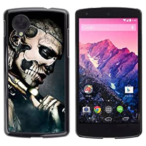 YOYOSHOP [Gothic Skull Tattoo] LG Google Nexus 5 Case by Maris's Diary