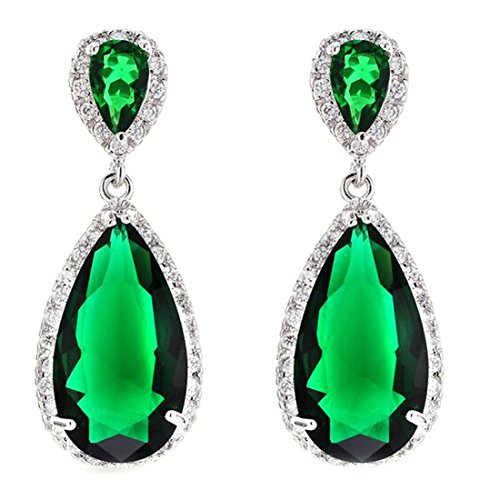 FC-JORY-White-Gold-Plated-Pear-Multi-color-Crystal-CZ-Gem-Teadrop-Halo-Earring