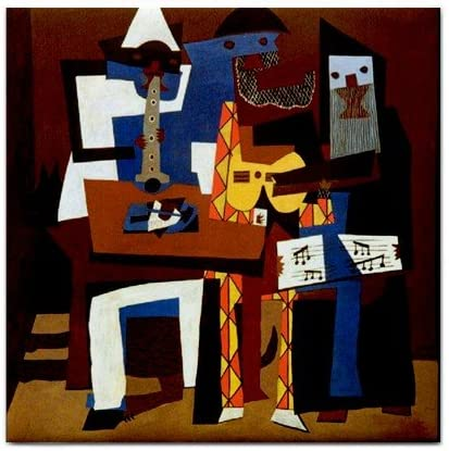 Amazon Com Three Musicians By Pablo Picasso Tile Trivet Kitchen Dining