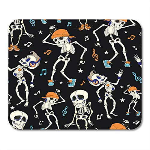 Boszina Mouse Pads Blue Costume Dancing Skeletons Party Halloween Music Disco Isla Vista California Funny Headphones Orange Mouse Pad for notebooks,Desktop Computers mats 9.5