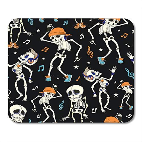 (Boszina Mouse Pads Blue Costume Dancing Skeletons Party Halloween Music Disco Isla Vista California Funny Headphones Orange Mouse Pad for notebooks,Desktop Computers mats 9.5