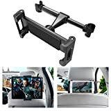 INTLIFE Car Seat Headrest Tablet Mount, Universal Mount Holder for iPad, Samsung, Switch, Kindle Fire, Fits All 4.7 to 12.9 inch Smartphones and Tablets (Upgrade-Black)