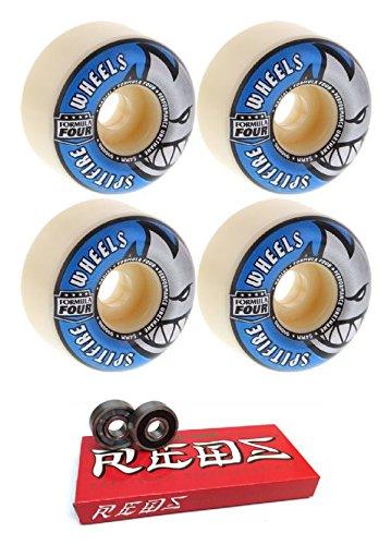 インカ帝国芝生ささいな54 mm Spitfire Wheels Formula Four Radial形状スケートボードWheels with Bones Bearings – 8 mmスケートボードベアリングBones Super Redsスケート定格 – 2アイテムのバンドル