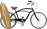 Cheap Anti rust light weight aluminum alloy frame Fito Marina alloy 3 speed 26″ wheel mens beach cruiser bike bicycle black with brown seat