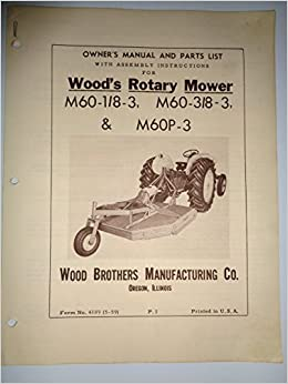 Woods M60 1/8 - 3, M60 3/8 - 3 and M60P-3 Rotary Cutter