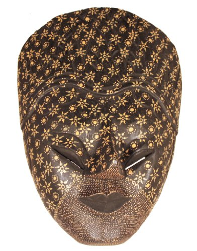 West Java Javanese Mask/Lost Art of Batik on Wood
