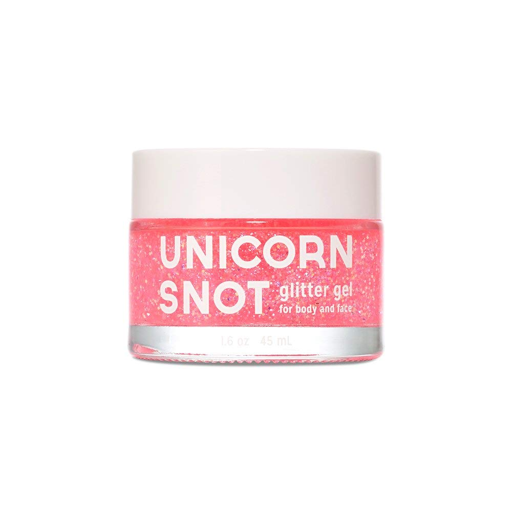 Unicorn Snot Vegan and Cruelty Free Glitter Gel for Face, Body, and Hair in Holographic Pink