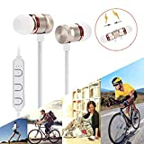 Glumes Bluetooth Headphones, Wireless Neckband Headset Support Hi-Fi Music And Hd Calling, Noise Cancelling Headphones Built-In Mic & 6 Hours Playtime For Cell Phones/Tablets/Tv