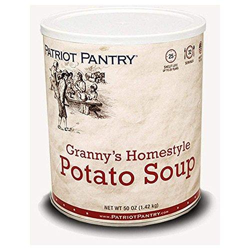 OKSLO Patriot pantry granny's homestyle potato soup (32 servings) #10 can bulk emergen