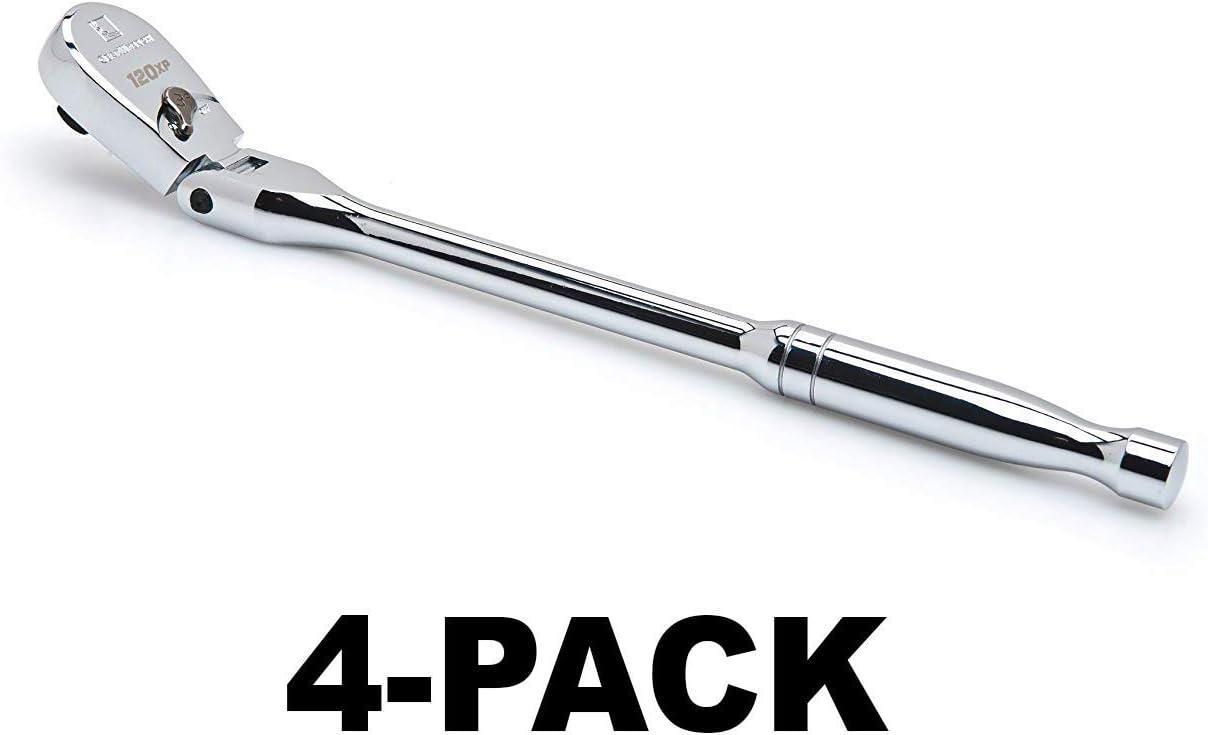 GearWrench 81012P 1//4 Drive 120XP Full Polish Flex Teardrop Ratchet