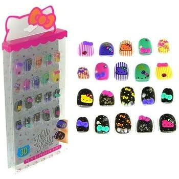 Amazon com: Crayola 24 Piece Press on Nails Cosmetics Set