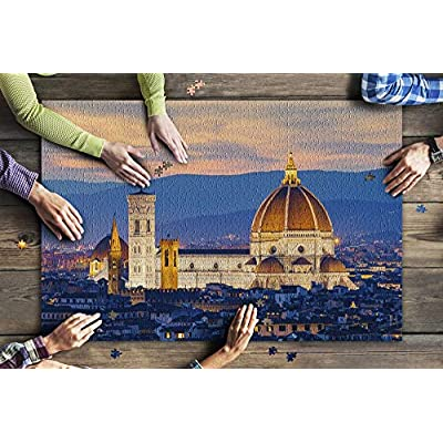 Twilight at Duomo in Florence, Italy A-91437 (Premium 1000 Piece Jigsaw Puzzle for Adults, 20x30, Made in USA!): Toys & Games