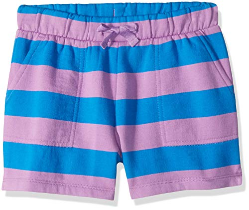 LOOK by Crewcuts Girls' Knit Short, Purple/Blue Stripe, XX-Large (14)