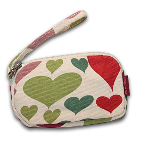 Bungalow 360 Canvas Clutch Coin Purse (Heart)