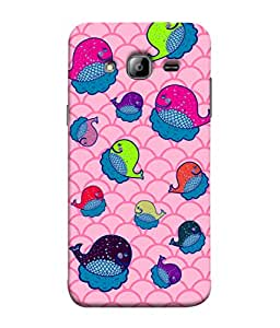 ColorKing Samsung J3 2016 Case Shell Cover - Whales Multi Color