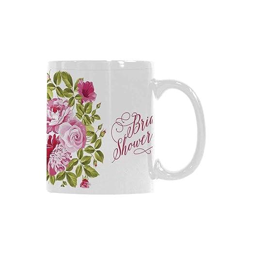 Taza con diseño de calavera en flores rojas, diseño de tatuaje de ...