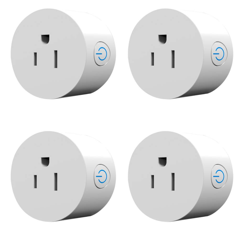 Mini Smart Plug Outlet- Pack of 4 Compatible with Amazon Alexa and Google Home, no hub Required, WiFi Enable Remote Control Your Electric Devices from Anywhere Using Timing and scheduling Functions