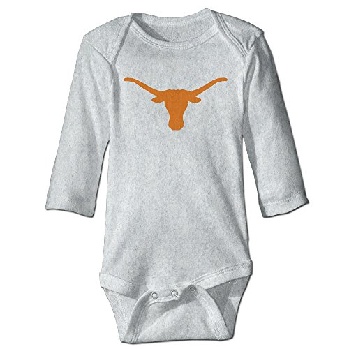 Price comparison product image OOKOO Baby's University Of Texas Longhorns Bodysuits Ash 12 Months