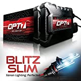OPT7 Blitz Slim H7 HID Kit - 3.5X Brighter - 4X Longer Life - All Bulb Sizes and Colors - 2 Yr Warranty [8000K Ice Blue Xenon Light]