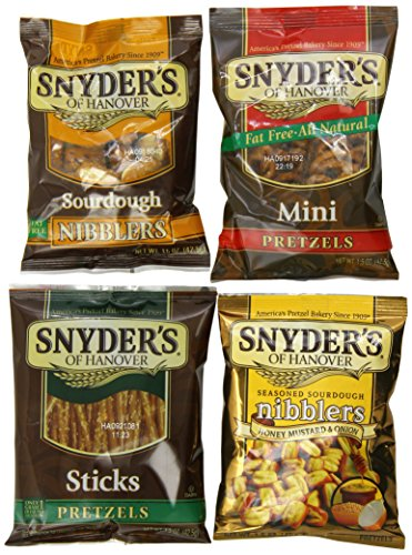 Onion Pretzel (Snyder's of Hanover Pretzel Variety Pack, 1.5 Ounce, (Pack of 36))