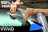 VViViD Clear Paint Protection Bulk Vinyl Wrap Film Including 3M Squeegee and Black Felt Applicator (54'' x 600)